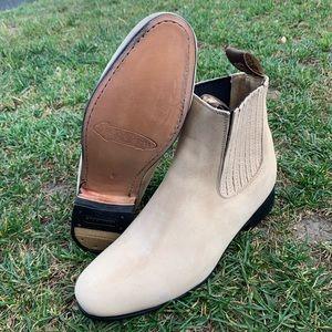 Men's Nubuck Suede Charro Botin Half Boot Est 310